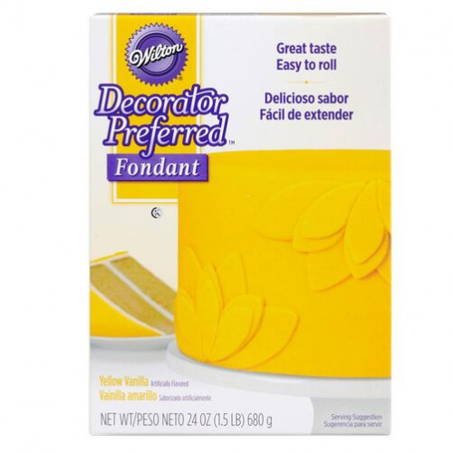 WILTON Fondant Yellow 24oz.