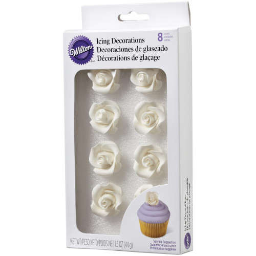 WILTON White Icing Roses Medium